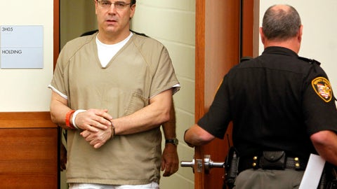 <p>               This Thursday, Sept. 15, 2011 file photo shows former Ohio State and NFL quarterback Art Schlichter, left, entering the Franklin County Common Pleas Court in Columbus, Ohio. Multiple individuals defrauded in a scheme perpetrated by an ex-Ohio State and NFL quarterback and his accomplice should receive money from the former player's share of a national concussion settlement, an Ohio prosecutor is arguing. At issue is the case of former star player Schlichter, now serving a nearly 11-year sentence on federal fraud charges. Prosecutors say Schlichter promised college and NFL game tickets, including to the Super Bowl, but never delivered despite receiving thousands of dollars in payments.(AP Photo/Terry Gilliam, File)             </p>