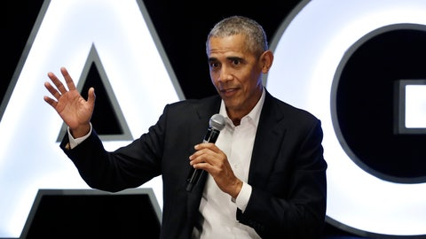 <p>               FILE - In this Feb. 15, 2020, file photo, former President Barack Obama talks during a panel with NBA players Chris Paul, Kevin Love and Giannis Antetokounmpo and sports analyst Michael Wilbon in Chicago. Obama tipped his cap. So did three other former presidents and a host of prominent civil rights leaders, entertainers and sports legends in a virtual salute to the 100-year anniversary of the founding of baseball's Negro Leagues. The campaign launched Monday, June 29, 2020, with photos and videos from, among others, Hank Aaron, Rachel Robinson Derek Jeter, Colin Powell, Michael Jordan, Obama and presidents George W. Bush, Bill Clinton and Jimmy Carter at tippingyourcap.com. (AP Photo/Nam Y. Huh, File)             </p>