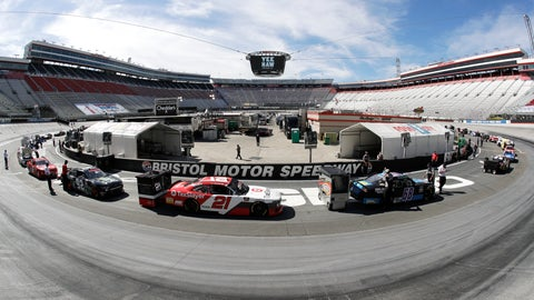<p>               In this picture made with a fisheye lens, cars are readied for a NASCAR Xfinity Series auto race at Bristol Motor Speedway Monday, June 1, 2020, in Bristol, Tenn. (AP Photo/Mark Humphrey)             </p>