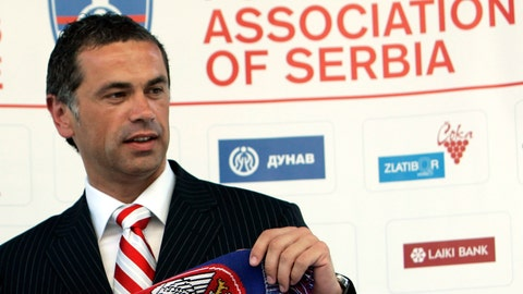 <p>               FILE - In this July 21, 2006 file photo, Red Star Belgrade soccer club director Zvezdan Terzic poses in Belgrade, Serbia. Terzic says he has tested positive for the coronavirus, days after the Serbian champions played matches in front of thousands of fans despite the pandemic. (AP Photo/Darko Vojinovic, File)             </p>