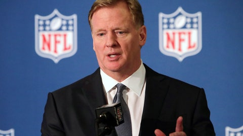 <p>               FILE - In this Dec. 12, 2018, file photo, NFL commissioner Roger Goodell speaks during a news conference in Irving, Texas. Coaches will be allowed to return to NFL team facilities beginning Friday as the league continues preparation for training camps and its season. Commissioner Roger Goodell told the 32 clubs on Thursday, June 4, 2020, that coaching staffs may from team complexes starting Friday. (AP Photo/LM Otero, File)             </p>