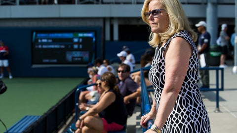 <p>               FILE - In this Aug. 24, 2017, file photo, Stacey Allaster, the U.S. Tennis Association's chief executive of professional tennis, watches a qualifying round of the U.S Open, as she was posing for a photo in New York. Allaster is taking over as the U.S. Open's tournament director, the first woman to hold that job at the American Grand Slam tennis tournament. She will stay on as the USTA's chief executive of professional tennis, the association said Wednesday, June 10, 2020. (AP Photo/Michael Noble Jr., File)             </p>