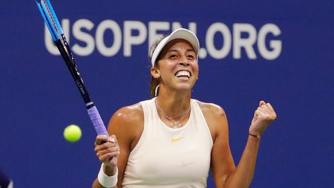 <p>               FILE - In this Sept. 5, 2018, file photo, Madison Keys celebrates after defeating Carla Suarez Navarro, of Spain, in the quarterfinals of the U.S. Open tennis tournament in New York. Keys has not played a real tennis match since January, so she was thrilled when a partial schedule was released for her sport's return after its coronavirus-forced hiatus. (AP Photo/Frank Franklin II, File)             </p>