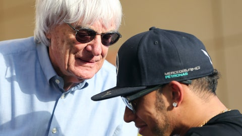 """<p>               FILE - In this Thursday, April 16, 2015 file photo, Bernie Ecclestone, President and CEO of Formula One Management, left, talks to Mercedes driver Lewis Hamilton of Britain ahead the Bahrain Formula One Grand Prix at the Formula One Bahrain International Circuit in Sakhir, Bahrain. Formula One champion Lewis Hamilton has criticized """"ignorant and uneducated"""" comments by former F1 boss Bernie Ecclestone. Hamilton, a six-time world champion and the only Black driver in F1, was shocked by Ecclestone's claim during an interview with broadcaster CNN on Friday, June 26, 202 that """"in lots of cases, Black people are more racist"""" than white people. (AP Photo/Kamran Jebreili, File)             </p>"""