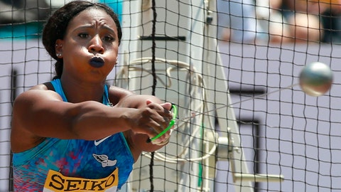 <p>               FILE - In this May 21, 2017, file photo, Gwen Berry, of the United States, competes in the women's hammer throw at the Golden Grand Prix athletics meet in Kawasaki, near Tokyo. Berry captured headlines last year when she used her turn on the gold-medal podium at the Pan-Am Games to raise her fist as a show of her frustration with America's treatment of blacks. Her gesture, to say nothing of the punishment that came afterward, are all being seen in a new light these days, in the wake of the killing of George Floyd. (AP Photo/Shizuo Kambayashi, File)             </p>
