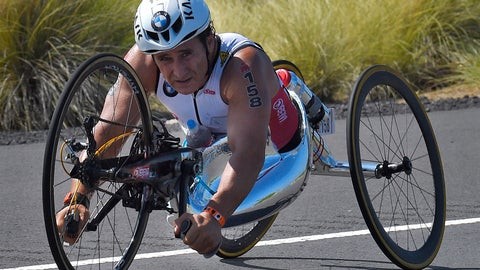 <p>               FILE - In this Saturday, Oct. 10, 2015 file photo, Alex Zanardi, of Italy, rides during the cycling portion of the Ironman World Championship Triathlon, in Kailua-Kona, Hawaii. Race car driver turned Paralympic champion Alex Zanardi has been seriously injured again. Police tell The Associated Press that Zanardi was transported by helicopter to a hospital in Siena following a road accident near the Tuscan town of Pienza during a national race for Paralympic athletes on handbikes. The 53-year-old Zanardi had both of his legs amputated following a horrific crash during a 2001 CART race in Germany. He was a two-time CART champion. (AP Photo/Mark J. Terrill, File)             </p>
