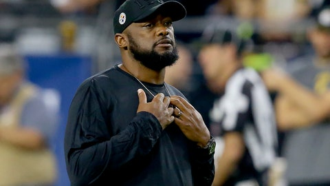 """<p>               FILE - In this Dec. 8, 2019, file photo, Pittsburgh Steelers head coach Mike Tomlin is shown prior to an NFL football game against the Arizona Cardinals, in Glendale, Ariz. Tomlin says the organization will support most forms of social justice protest by his players, including kneeling during the national anthem. Tomlin says as the organization is on board with any protest as long it is done """"thoughtfully and with class."""" (AP Photo/Ross D. Franklin, File)             </p>"""