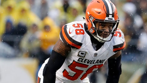<p>               FILE - In this Oct. 28, 2018, file photo, Cleveland Browns outside linebacker Christian Kirksey is shown during an NFL football game against the Pittsburgh Steelers in Pittsburgh.  Kirksey believes his history with his new defensive coordinator will help the veteran linebacker make a smooth transition as he switches teams for the first time in his NFL career. Kirksey signed with the Green Bay Packers in March after getting released by Cleveland, where he spent his six NFL seasons. Packers defensive coordinator Mike Pettine was the Browns' head coach in 2014-15. (AP Photo/Winslow Townson, File)             </p>