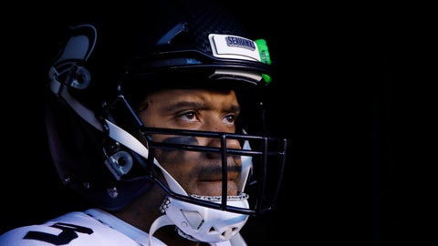"""<p>               FILE - In this Jan. 5, 2020, file photo, Seattle Seahawks' Russell Wilson waits to run onto the field for the team's NFL wild-card playoff football game against the Philadelphia Eagles in Philadelphia. Speaking to the media for the first time since the end of last season, Wilson didn't care to talk about the game that's helped make him famous. """"To be honest with you, I don't even want to talk about football right now,"""" Wilson said during a video conference Wednesday, June 3. """"I can't compare football to life and what the black community is going through right now,"""" he said. (AP Photo/Matt Rourke, File)             </p>"""