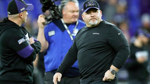 <p>               FILE - In this Jan. 11, 2020, file photo, Baltimore Ravens offensive coordinator Greg Roman looks on prior to an NFL divisional playoff football game against the Tennessee Titans, in Baltimore. Roman is tweaking and refining a record-setting unit led by NFL MVP Lamar Jackson, who is expected to again be the key component of an attack with several newcomers in the mix.(AP Photo/Julio Cortez, File)             </p>