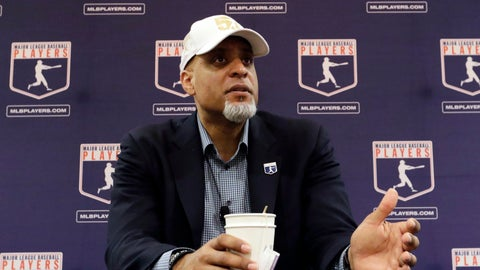 <p>               FILE - In this Feb. 19, 2017, file photo, Major League Players Association Executive Director Tony Clark, answers questions at a news conference in Phoenix. Commissioner Rob Manfred says there might be no major league season after a breakdown in talks between teams and the union on how to split up money in a season delayed by the coronavirus pandemic. The league also said several players have tested positive for COVID-19. Two days after union head Clark declared additional negotiations futile, Deputy Commissioner Dan Halem sent a seven-page letter to players' association chief negotiator Bruce Meyer asking the union whether it will waive the threat of legal action and tell MLB to announce a spring training report date and a regular season schedule. (AP Photo/Morry Gash, File)             </p>