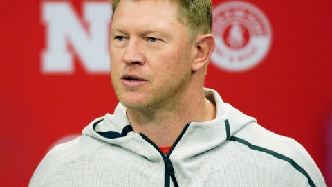 <p>               FILE - In this March 5, 2019, file photo, Nebraska NCAA college football coach Scott Frost answers a question during a news conference in Lincoln, Neb. Nebraska football coach Scott Frost and men's basketball coach Fred Hoiberg will donate a portion of their salaries to the athletic department's general operating fund to help offset revenue shortfalls because of the coronavirus pandemic. The athletic department said in a statement Thursday, June 18, 2020, the amount of the donations would be determined when the 2021 budget is closer to being finalized. Frost's salary is $5 million this year. Hoiberg is set to earn $3 million. (AP Photo/Nati Harnik, File)             </p>