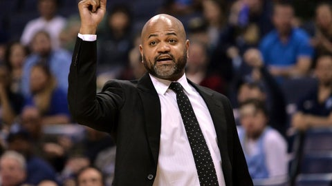 <p>               FILE - In this March 23, 2019, file photo, Memphis Grizzlies head coach J.B. Bickerstaff calls to players in the first half of an NBA basketball game against the Minnesota Timberwolves, in Memphis, Tenn. The Cleveland Cavaliers weren't invited inside the NBA's Disney World summer bubble. They never want to have the door close on them again. (AP Photo/Brandon Dill, File)             </p>