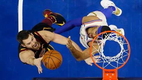 <p>               FILE - In this Dec. 7, 2019, file photo, Cleveland Cavaliers' Kevin Love, left, goes up to shoot against Philadelphia 76ers' Tobias Harris during the first half of an NBA basketball game, Saturday, Dec. 7, 2019, in Philadelphia. The NBA's decision to only invite 22 teams to resume play at Disney World in Florida next month was a body blow for players on the omitted squads _ aka the Delete 8. And although they have had time to process the exclusion, Sexton, Cavs star forward Love and their teammates, are still struggling with the reality that their season is over. (AP Photo/Matt Slocum, File)             </p>