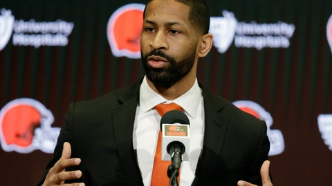 <p>               FILE - In this Feb. 5, 2020, file photo, Cleveland Browns general manager Andrew Berry speaks during a news conference at the NFL football team's training camp facility in Berea, Ohio. Former Colts general manager Ryan Grigson has been named a senior advisor for the Cleveland Browns, reuniting with vice president of football operations Andrew Berry, who has filled out his front office. (AP Photo/Tony Dejak, File)             </p>