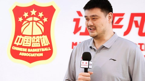 <p>               In this photo released by China's Xinhua News Agency, Chinese Basketball Association (CBA) President Yao Ming receives an interview in Beijing on June 4, 2020. The Chinese basketball league has restarted after an almost five-month shutdown for the coronavirus pandemic, with fewer foreign players and no fans in the stands. The CBA was suspended on Jan. 24, 2020 after the coronavirus outbreak in Wuhan, a week before it was scheduled to return following a spring break at the end of the regular season. The semifinals stage started Saturday, June 20, 20202 with 20 teams divided into two divisions and limited venues to reduce travel. All stadiums are closed to fans. League chairman and former NBA star Yao praised the work of the clubs and health authorities for helping get the CBA season restarted. (Meng Yongmin/Xinhua via AP)             </p>