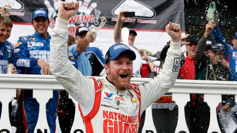 <p>               FILE - In this Aug. 3, 2014, file photo, Dale Earnhardt Jr. celebrates in Victory Lane after winning a NASCAR Sprint Cup Series auto race at Pocono Raceway in Long Pond, Pa. Longtime fan favorite Dale Earnhardt Jr. is expected to be the marquee name on NASCAR's 2021 Hall of Fame class, to be announced Tuesday, June 16, 2020. (AP Photo/Matt Slocum, File)             </p>
