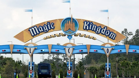 "<p>               FILE - In this March 16, 2020, file photo, the entrance to the parking lot at the Magic Kingdom at Walt Disney World is closed in Lake Buena Vista, Fla. The Splash Mountain ride at Disney parks in California and Florida is being recast. Disney officials said the ride would no longer be tied to the 1946 movie, ""Song of the South,"" which many view as racist. Instead, the revamped ride will be inspired by the 2009 Disney film, ""The Princess and the Frog,"" which has an African-American female lead. (AP Photo/John Raoux, File)             </p>"