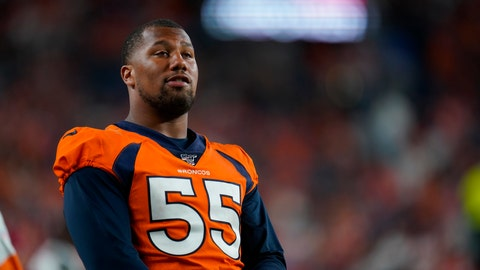 <p>               FILE - In this Aug. 19, 2019, file photo, Denver Broncos outside linebacker Bradley Chubb looks on during an NFL preseason football game between the Denver Broncos and the San Francisco 49ers in Denver. Many players polled by The Associated Press over the last couple of weeks say they are scared to return to work without a cure or a vaccine for the coronavirus. By and large, however, those same players say they trust the protocols the NFL will have in place by the time practices resume and games return. (AP Photo/Jack Dempsey, File)             </p>