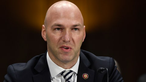 <p>               FILE - In this Tuesday, Feb. 11, 2020, file photo, Rep. Anthony Gonzalez, R-Ohio, speaks during a Senate Commerce subcommittee hearing on Capitol Hill in Washington, on intercollegiate athlete compensation. Federal legislation setting guidelines for college athletes to pursue money-making opportunities could be proposed within a month, and Gonzalez, who is planning to introduce it, said Thursday, June 4, 2020, there will be no blanket antitrust exemption for the NCAA. (AP Photo/Susan Walsh, File)             </p>