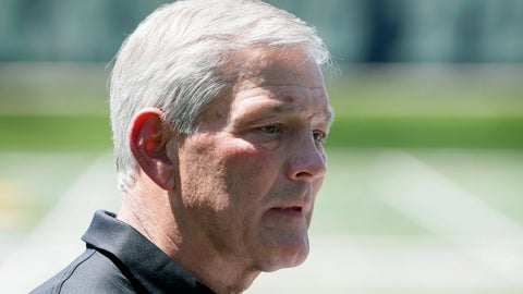 <p>               Iowa football coach Kirk Ferentz speaks during a news conference, Friday, June 12, 2020, in Iowa City, Iowa. The Iowa football team took a big step toward improving its lines of communication in the week since the program was hit with allegations of systemic racism, Ferentz and three of his players said Friday. (AP Photo/Charlie Neibergall)             </p>