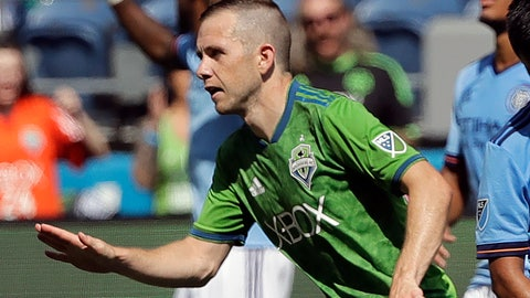 <p>               FILE - In this July 29, 2018, file photo, Seattle Sounders midfielder Harry Shipp reacts after scoring a goal against New York City FC during the second half of an MLS soccer match in Seattle. When Major League Soccer and its players came to agreement on a new collective bargaining agreement back in February, there was a genuine feeling of accomplishment on both sides. Those pre-pandemic positive vibes are now gone, at least in how the players feel toward the league and ownership. (AP Photo/Ted S. Warren, File)             </p>