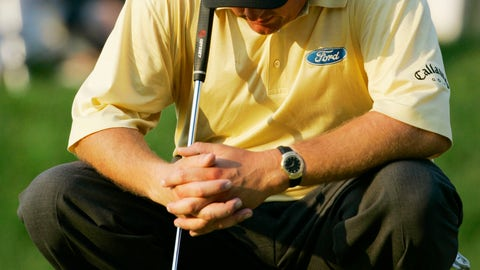 <p>               FILE - In this June 18, 2006, file photo, Phil Mickelson, of the United States, waits to putt on the 18th green in the final round of the U.S. Open at Winged Foot Golf Club in Mamaroneck, N.Y. Mickelson lost to Geoff Ogilvy of Australia. Mickelson is now exempt to return to Winged Foot for the U.S. Open in September. (AP Photo/Charles Krupa, File)             </p>