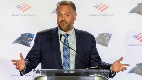 <p>               FILE - In this Jan. 8, 2020, file photo, Carolina Panthers NFL football team head coach Matt Rhule talks to the media during a news conference at the teams practice facility in Charlotte, N.C. Rhule said he is considering kneeling alongside his players for the national anthem this season to support the movement against racial injustice. (AP Photo/Mike McCarn, File)             </p>