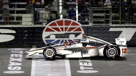 <p>               FILE - In this June 10, 2017, file photo, Will Power, of Australia, pumps his fist as he crosses the finish line under yellow to win an IndyCar auto race at Texas Motor Speedway, in Fort Worth, Texas. IndyCar is getting ready for an all-in-one-day season opener on the fast track in Texas, more than 2 ½ months after drivers were set to roll on the streets of St. Pete. The pandemic-delayed season is now set to open Saturday, June 6, 2020. (AP Photo/Tony Gutierrez, File)             </p>