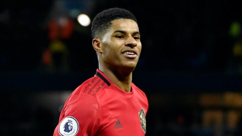 <p>               FILE - In this Saturday, Dec. 7, 2019 file photo, Manchester United's Marcus Rashford celebrates during an English Premier League soccer match against Manchester City at Etihad stadium in Manchester, England. British Prime Minister Boris Johnson faced growing pressure Tuesday, June 16, 2020 to make a policy U-turn as opponents and allies alike rallied behind a young soccer star's campaign to help families struggling with food poverty. Manchester United and England player Marcus Rashford is urging the government to provide free meals for needy students over the summer holidays.(AP Photo/Rui Vieira, file)             </p>