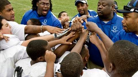 <p>               In this image provided by USA Football and taken June 29, 2009, a youth football team comes together at a practice in Dallas. USA Football has developed a phased approach for the return of youth football this year. The plan is based on phased reopening guidelines from the CDC. The governing body for the sport in this country advises youth leagues to consult their city or county health department to determine which CDC phase their community is in. That step begins a youth program's local reopening procedure during the coronavirus pandemic. (USA Football via AP)             </p>