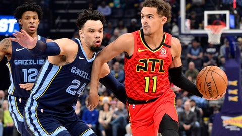 <p>               FILE - In this March 7, 2020, file photo, Atlanta Hawks guard Trae Young (11) handles the ball against Memphis Grizzlies guard Dillon Brooks (24) in the first half of an NBA basketball game in Memphis, Tenn. Lloyd Pierce sees improvement in the five players he calls the core of the rebuilding Atlanta Hawks. The coach knows he needs to deliver proof of that improvement next season. There was no proof in the standings of improvement in this shortened season despite the emergence of guard Trae Young as an All-Star in only his second season. (AP Photo/Brandon Dill, File)             </p>