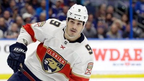 <p>               FILE - This Dec. 23, 2019 file photo shows Florida Panthers center Brian Boyle (9) during the second period of an NHL hockey game against the Tampa Bay Lightning in Tampa, Fla.  The predominantly white sport of hockey has a checkered history of racism and a culture of not standing out from the team or speaking out. The death of George Floyd in Minnesota has shattered that silence.   (AP Photo/Chris O'Meara)             </p>