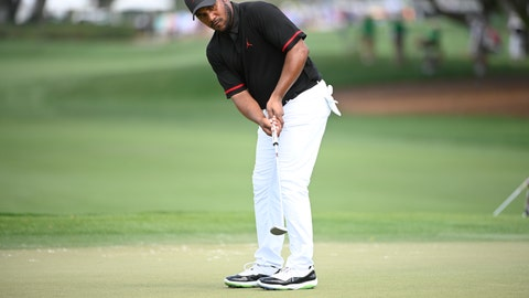 <p>               FILE - In this March 5, 2020, file photo, Harold Varner III watches his putt on the ninth green during the first round of the Arnold Palmer Invitational golf tournament in Orlando, Fla. Varner, one of three players of black heritage on the PGA Tour, wrote a thoughtful post about the killing of George Floyd and the civil unrest. (AP Photo/Phelan M. Ebenhack, File)             </p>