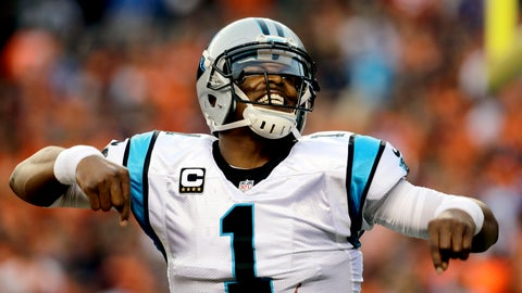 <p>               FILE - In this Sept. 8, 2016, file photo, Carolina Panthers quarterback Cam Newton (1) celebrates a touchdown pass against the Denver Broncos during the first half of an NFL football game, in Denver. The New England Patriots have reached an agreement with free-agent quarterback Cam Newton, bringing in the 2015 NFL Most Valuable Player to help the team move on from three-time MVP Tom Brady, a person with knowledge of the deal told The Associated Press. The one-year deal is worth up to $7.5 million with incentives, the person said, speaking on the condition of anonymity because he was not authorized to discuss it publicly.  (AP Photo/Joe Mahoney)             </p>