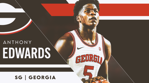 4. Atlanta Hawks — Anthony Edwards, SG, Georgia (4)