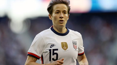 <p>               FILE - In this March 8, 2020, file photo, United States forward Megan Rapinoe (15) runs over to take a corner kick during the second half of a SheBelieves Cup soccer match against Spain, in Harrison, N.J. U.S. national team players Megan Rapinoe, Tobin Heath and Christen Press have opted out of the National Women's Soccer League tournament kicking off this weekend in Utah.  (AP Photo/Steve Luciano, File)             </p>