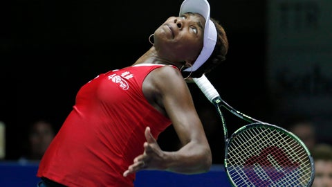 <p>               FILE - In this July 14, 2015, file photo, Washington Kastles' Venus Williams serves to Austin Aces' Nicole Gibbs during a tennis match in Washington. World TeamTennis says Venus Williams has committed to play in its three-week season that starts July 12, 2020. Williams will be a member of the Washington Kastles. That is one of nine teams that will gather at a resort in West Virginia. (AP Photo/Alex Brandon, File)             </p>