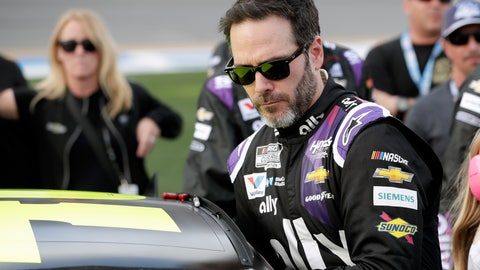<p>               FILE - In this Feb. 16, 2020 file photo Jimmie Johnson climbs intp his car before the NASCAR Daytona 500 auto race at Daytona International Speedway in Daytona Beach, Fla.   (AP Photo/John Raoux, File)             </p>