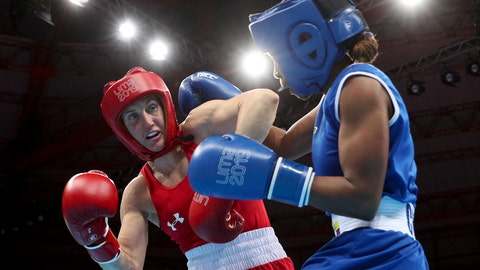 <p>               FILE - In this Aug. 2, 2019, file photo, Ingrit Valencia, right, of Colombia and Virginia Fuchs, of the United States compete in the women's flyweight boxing final bout at the Pan American Games in Lima, Peru. U.S. Olympic team boxer Fuchs will face no punishment for failing a doping test after the U.S. Anti-Doping Association determined the violation had been caused by two substances transmitted by her boyfriend through sex. USADA announced its ruling Thursday, June 11, 2020, clearing the 32-year-old Fuchs, who intends to qualify for the Tokyo Olympics next year as a flyweight. (AP Photo/Martin Mejia, File)             </p>