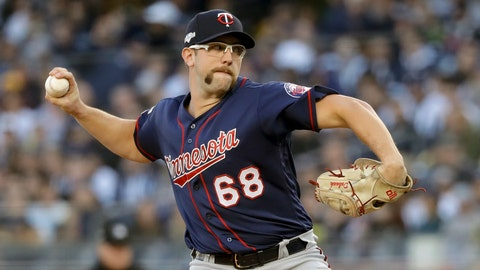 <p>               FILE - In this Oct. 5, 2019, file photo, Minnesota Twins starting pitcher Randy Dobnak (68) delivers against the New York Yankees during the first inning of Game 2 of an American League Division Series baseball game,  in New York. Finally, major leaguers are on track to resume this virus-abbreviated 2020 season. The hiatus has provided a welcomed dose of extra family time for many, but the unprecedented idling this spring and summer for players used to being on the diamond daily has predictably created a collective antsy feeling around the game. (AP Photo/Frank Franklin II, File)             </p>