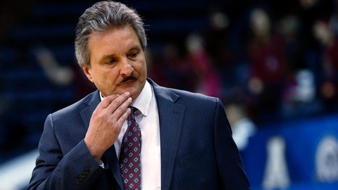 <p>               FILE - In this March 12, 2017, file photo, Texas State coach Danny Kaspar reacts during the first half of the team's NCAA college basketball game against Troy for the Sun Belt tournament title in New Orleans. Texas State ordered an investigation Friday, June 5, 2020, into a former basketball player's allegations of racist remarks by coach Danny Kaspar. (AP Photo/Gerald Herbert)             </p>