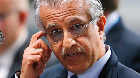 <p>               FILE - In this Friday, Feb. 26, 2016 file photo, FIFA presidential candidate Sheikh Salman bin Ibrahim al-Khalifa of Bahrain during an extraordinary FIFA congress in Zurich, Switzerland.  The SRA group of trade unions and rights advocates said in a letter to the AFC's president, Sheikh Salman Bin Ibrahim Al-Khalifa, urging Asia's soccer body on Wednesday June 3, 2020, to mandate respecting human rights into bidding for and organizing the 2027 Asian Cup. (AP Photo/Michael Probst, FILE)             </p>
