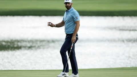 <p>               Dustin Johnson reacts after sinking his putt on the 15th green during the final round of the Travelers Championship golf tournament at TPC River Highlands, Sunday, June 28, 2020, in Cromwell, Conn. (AP Photo/Frank Franklin II)             </p>
