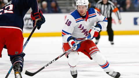 <p>               FILE - In this Feb. 14, 2020, file photo, New York Rangers' Artemi Panarin, of Russia, plays against the Columbus Blue Jackets during an NHL hockey game in Columbus, Ohio. The Edmonton Oilers' sudden resurgence placed Connor McDavid back in the NHL MVP conversation, along with teammate Leon Draisaitl. Colorado's Nathan MacKinnon and Boston's David Pastrnak made their case, too, during a pandemic-shortened season. And don't forget New York Rangers' Artemi Panarin, a late entry in the discussion. (AP Photo/Jay LaPrete, FIle)             </p>