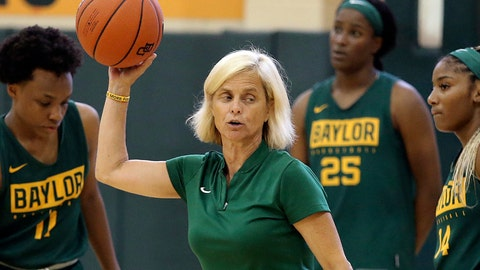 <p>               FILE - In this Sept. 30, 2019, file photo, Baylor women's coach Kim Mulkey, center, talks with players during the NCAA college basketball team's practice in Waco, Texas. The NCAA Division I Council on Wednesday, June 17, 2020, approved a plan to allow college basketball players to start working with their coaches for the first time since the pandemic wiped out March Madness. The summer access period for men's and women's players will begin July 20. (Jerry Larson/Waco Tribune-Herald via AP, File)             </p>