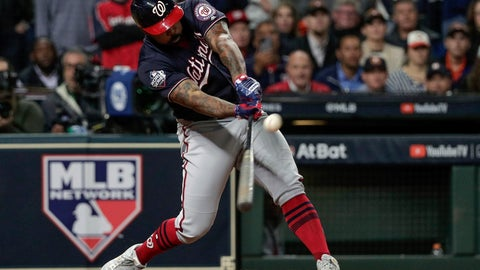 <p>               FILE - In this Oct. 30, 2019, file photo, Washington Nationals' Howie Kendrick hits a two-run home run during the seventh inning of Game 7 of the baseball World Series against the Houston Astros in Houston. Major League Baseball has proposed expanding the playoff field from 10 teams to as many as 16 for this year and next season. Other major sports are accustomed to more teams in the postseason. (AP Photo/David J. Phillip, File)             </p>