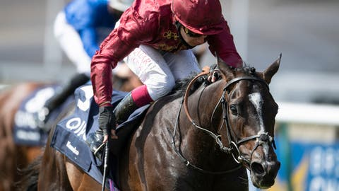 <p>               Kameko ridden by Oisin Murphy wins the Qipco 2000 Guineas at Newmarket Racecourse, in Newmarket, England, Saturday June 6, 2020. The 10-1 Kameko upset the odds to beat Pinatubo and win the 2,000 Guineas at Newmarket on Saturday and give jockey Oisin Murphy his first Classic. Pinatubo entered the race unbeaten in six juvenile starts and with the highest 2-year-old rating for 25 years. (Edward Whitaker/PA via AP)             </p>