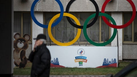 <p>               FILE - In this Nov. 28, 2019 file photo Olympic Rings and a model of Misha the Bear Cub, the mascot of the Moscow 1980 Olympic Games, left, are seen in the yard of Russian Olympic Committee building in Moscow, Russia. A U.S. government study concludes that Americans do not get their money's worth out of the $2.7 million that Congress sent to the World Anti-Doping Agency this year. The report from the White House Office of National Drug Control Policy concludes that the U.S. is under-represented on WADA's key policymaking committees. It says WADA has not moved quickly or far enough to reform itself in the wake of the Russian doping scandal.  (AP Photo/Pavel Golovkin, file)             </p>