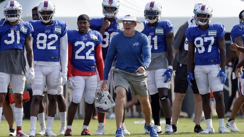 <p>               FILE - In this Aug 13, 2019, file photo, Buffalo Bills coach Sean McDermott yells during the team's NFL football training camp with the Carolina Panthers in Spartanburg, S.C. NFL general managers and coaches, and those who assist them, work within a highly competitive culture. Putting in extremely long hours is simply understood as part of the job. Unless, there's a pandemic. (AP Photo/Gerry Broome, File)             </p>